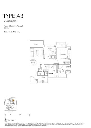 The Peak floor plan A3