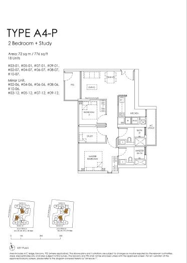 The Peak floor plan A4-p