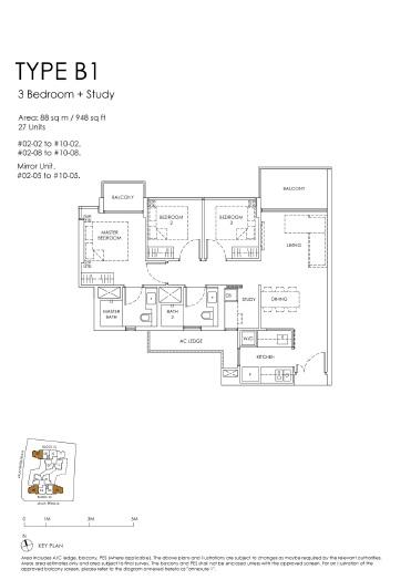 The Peak floor plan B1