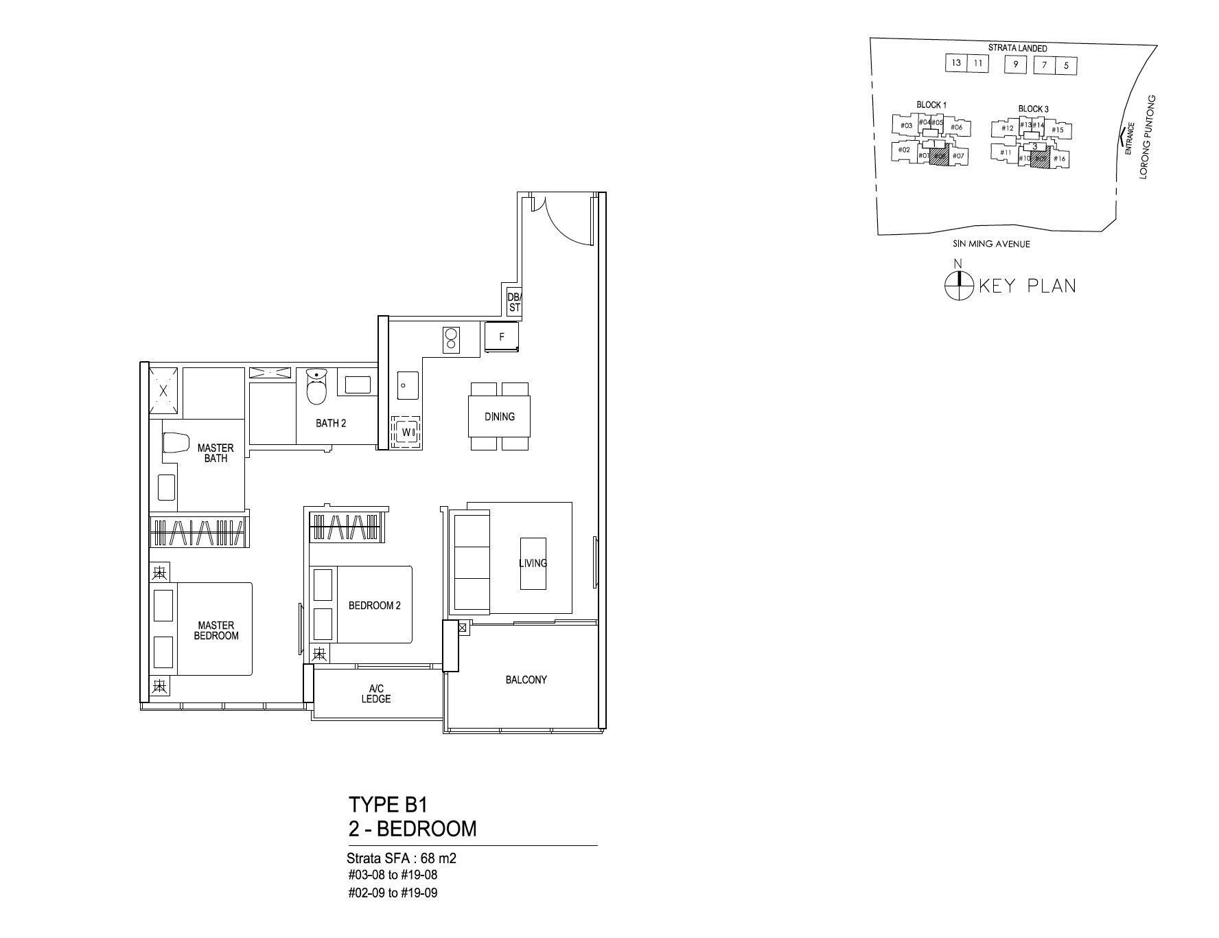 Thomson Impressions 2 bedroom floor plan