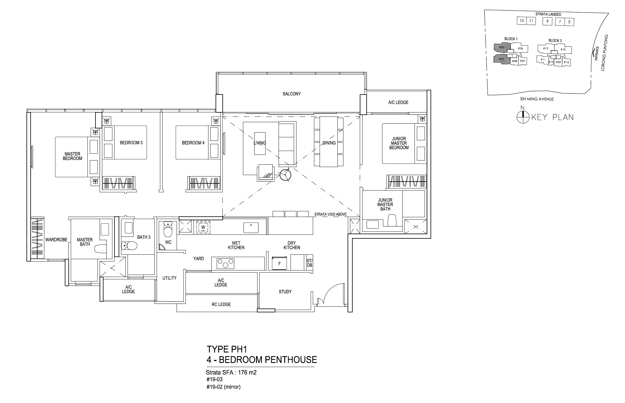 Thomson Impressions 4 bedroom penthouse floor plantype PH1