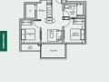 TRE VER floor plan 2 br B4