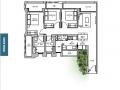 TRE VER floor plan 3 br