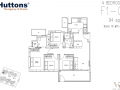 View-at-Kismis-4-bedroom-floor-plan