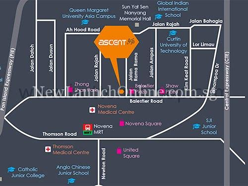 Ascent @ 456 Location Map