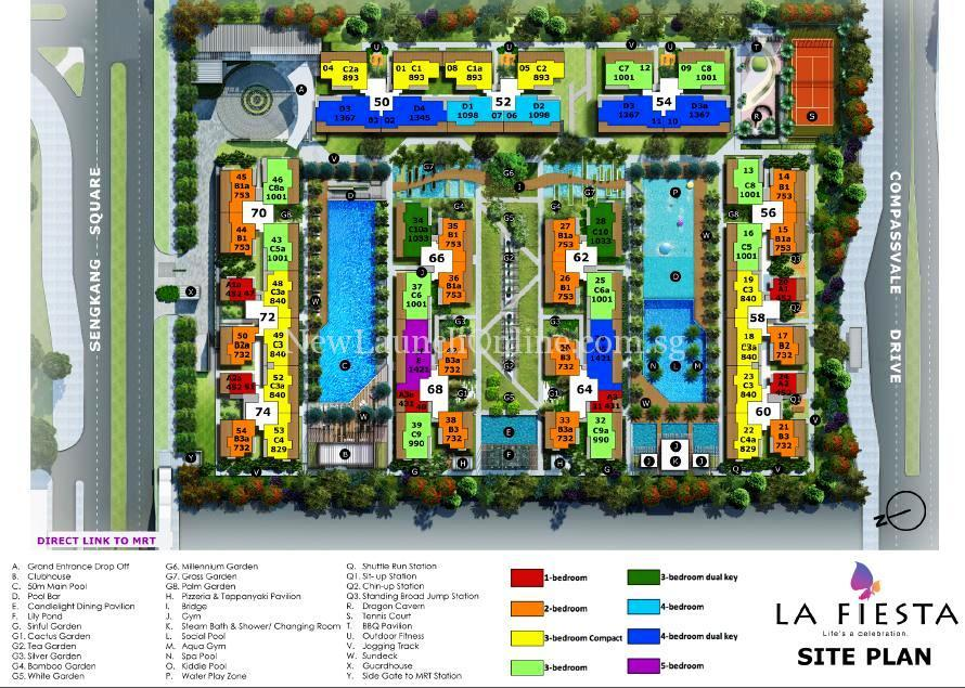 La Fiesta Site Plan