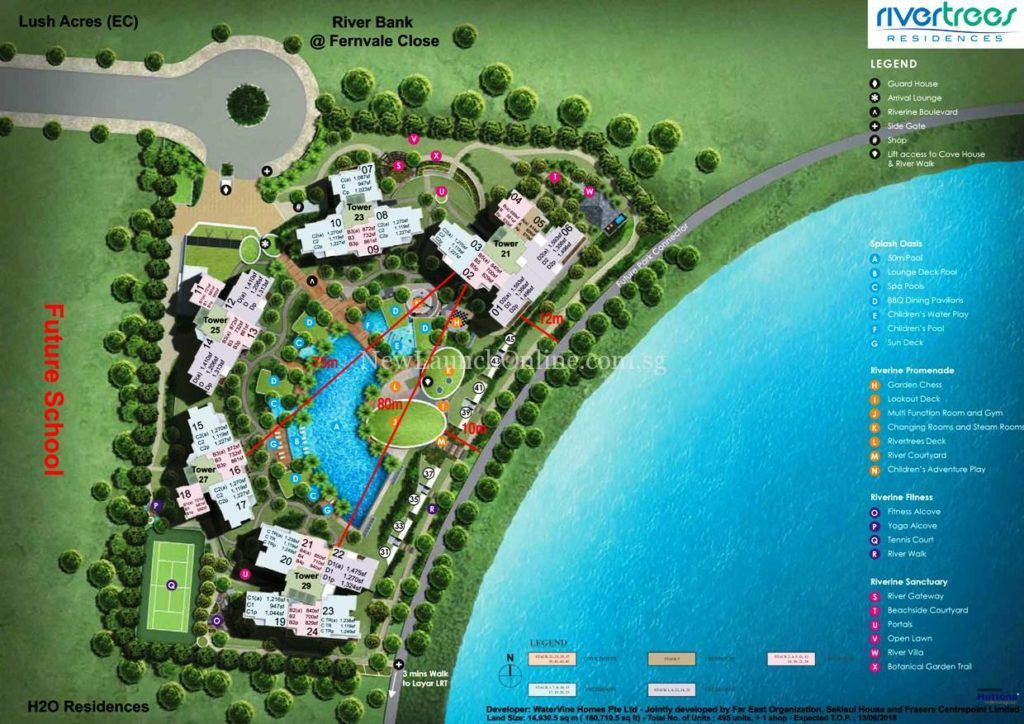 Rivertrees Residences Site Plan