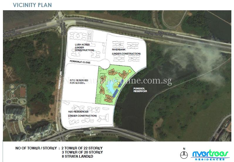 Rivertrees Residences vicinity plan