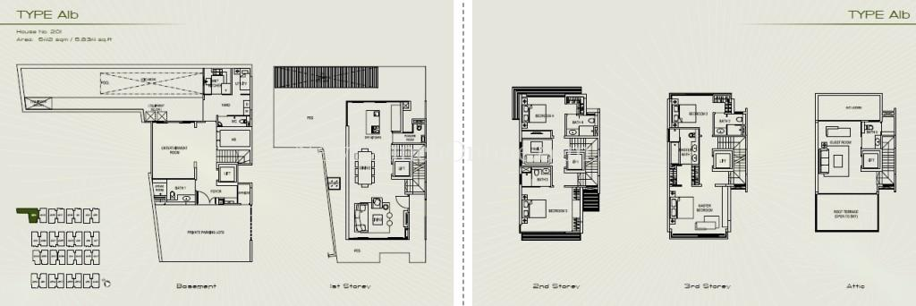 Palms at Sixth Avenue Floor Plan - Type A1b