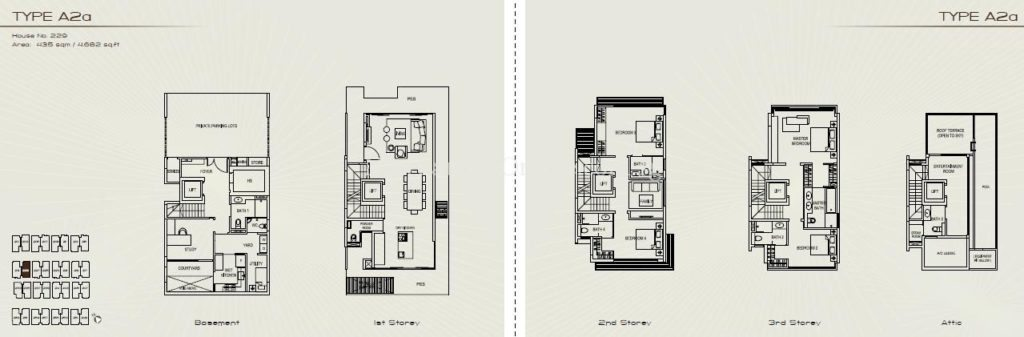 Palms at Sixth Avenue Floor Plan - Type A2a
