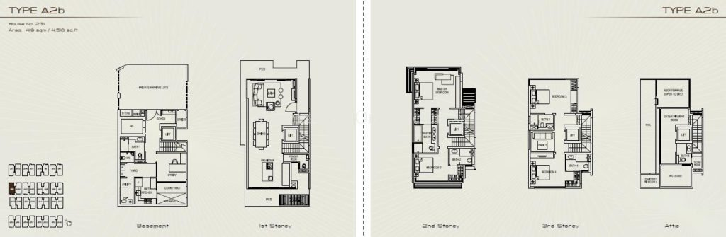 Palms at Sixth Avenue Floor Plan - Type A2b