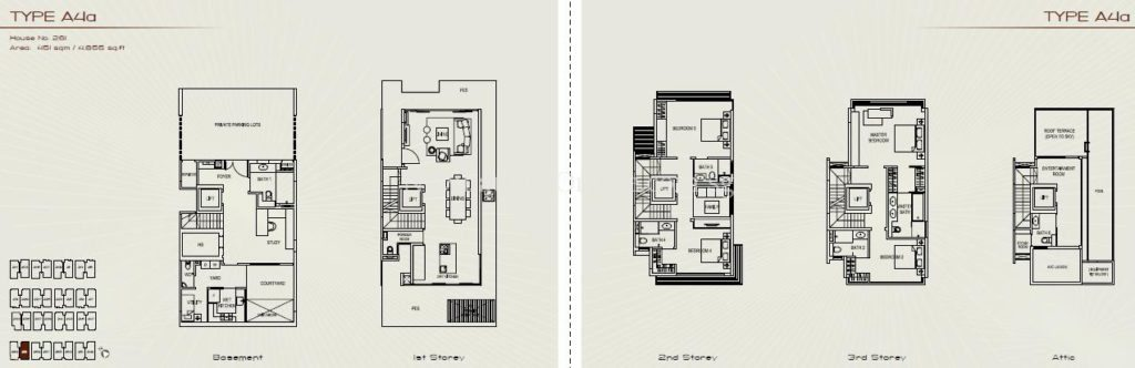 Palms at Sixth Avenue Floor Plan - Type A4a