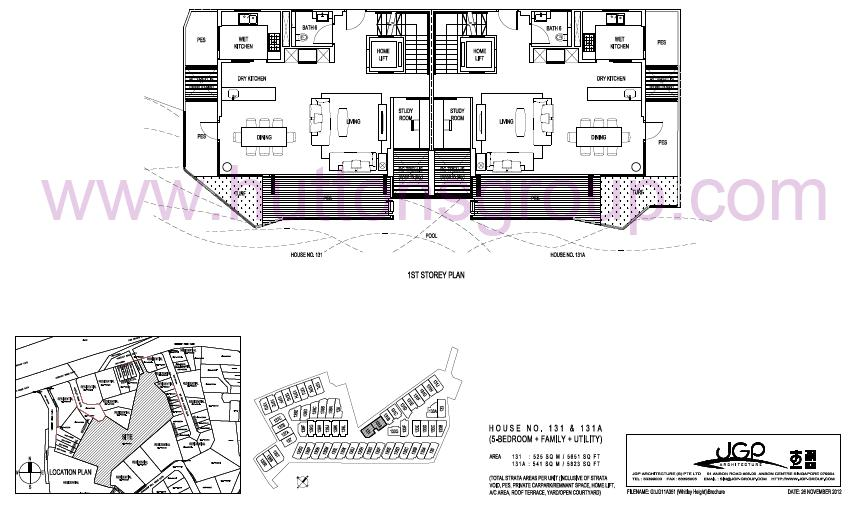 The Whitley Residences Floor Plan Type 131A 1st Storey