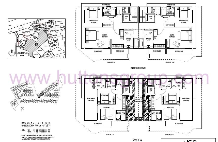 The Whitley Residences Floor Plan Type 131A 2nd Storey