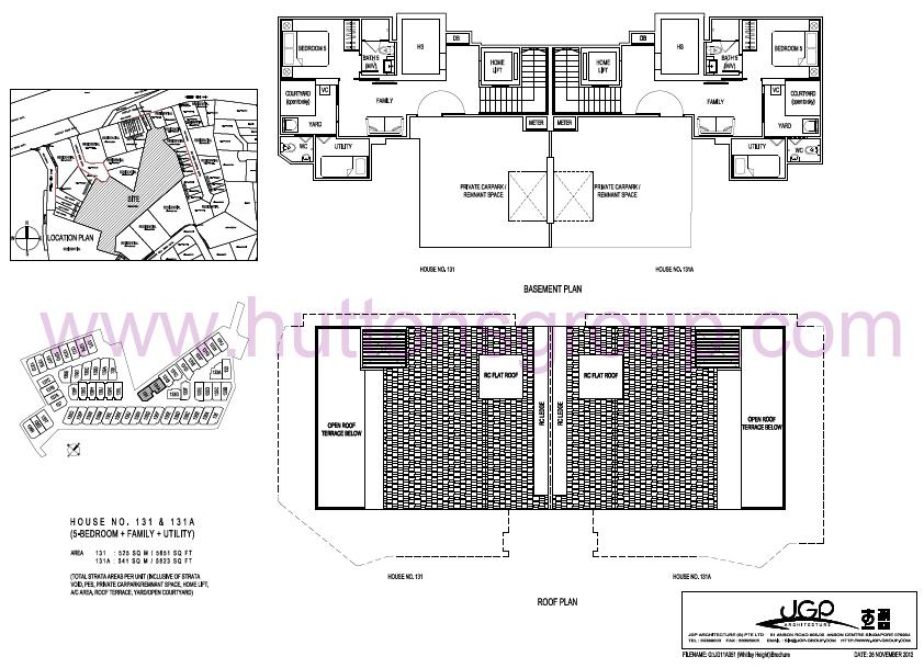 The Whitley Residences Floor Plan Type 131A Basement