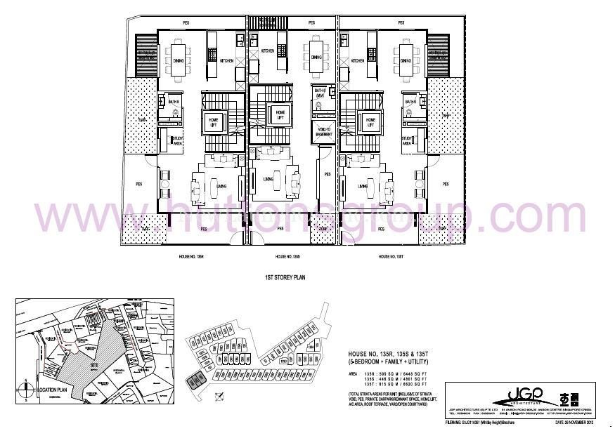 The Whitley Residences Floor Plan Type 135RST 1st Storey