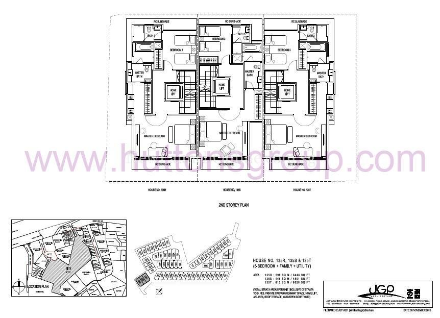 The Whitley Residences Floor Plan Type 135RST 2nd Storey