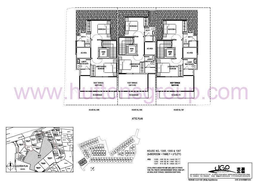 The Whitley Residences Floor Plan Type 135RST Attic