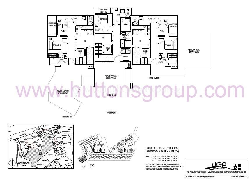 The Whitley Residences Floor Plan Type 135RST Basement