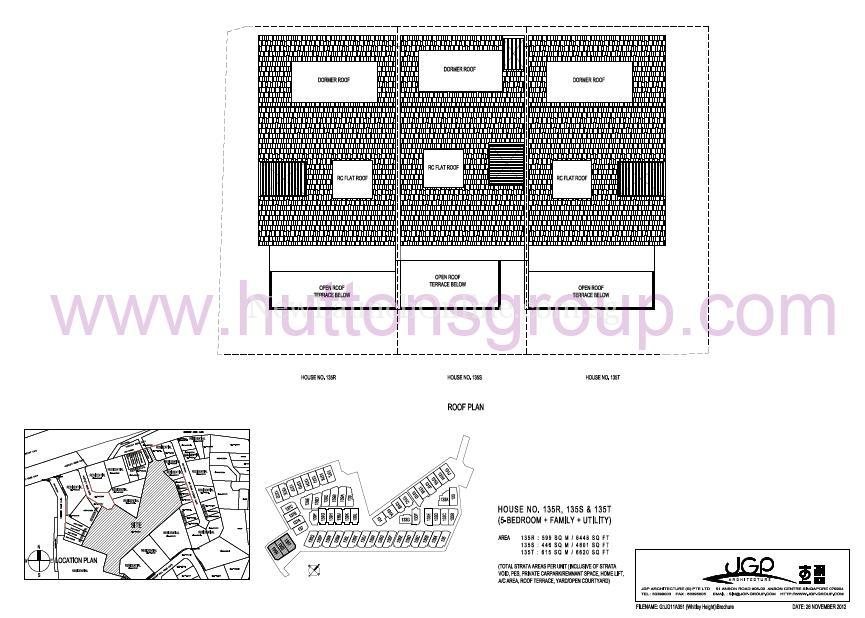 The Whitley Residences Floor Plan Type 135RST roof