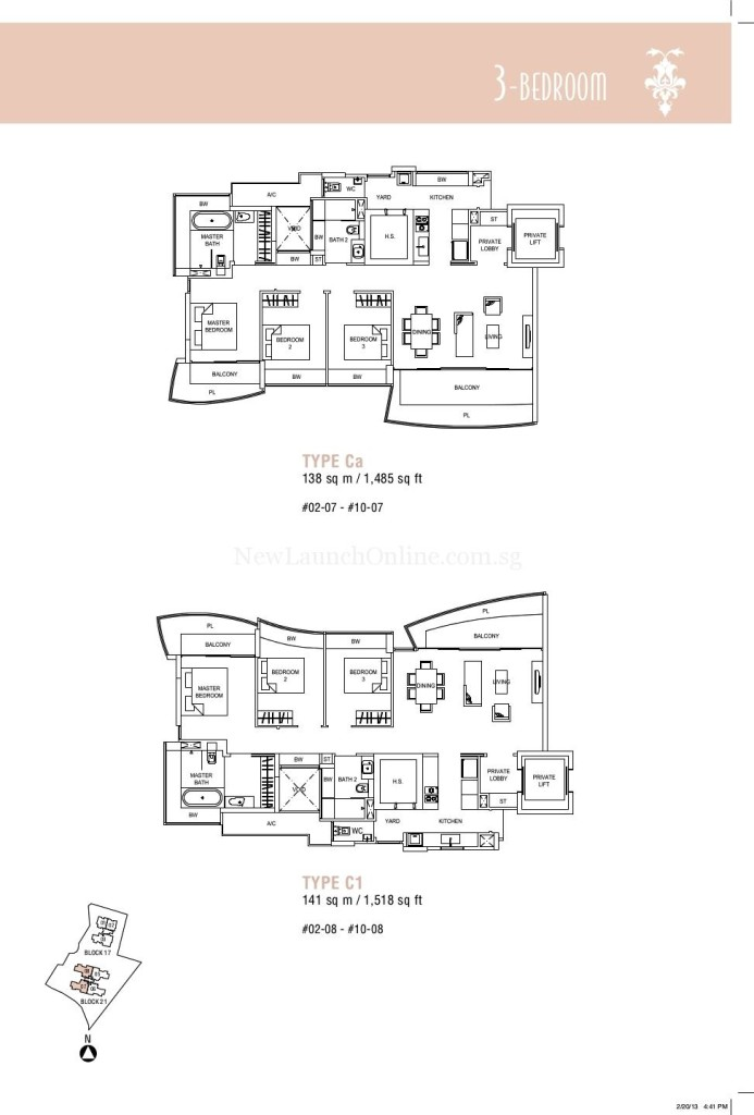 Hallmark Residences 3 bedroom Floor Plan