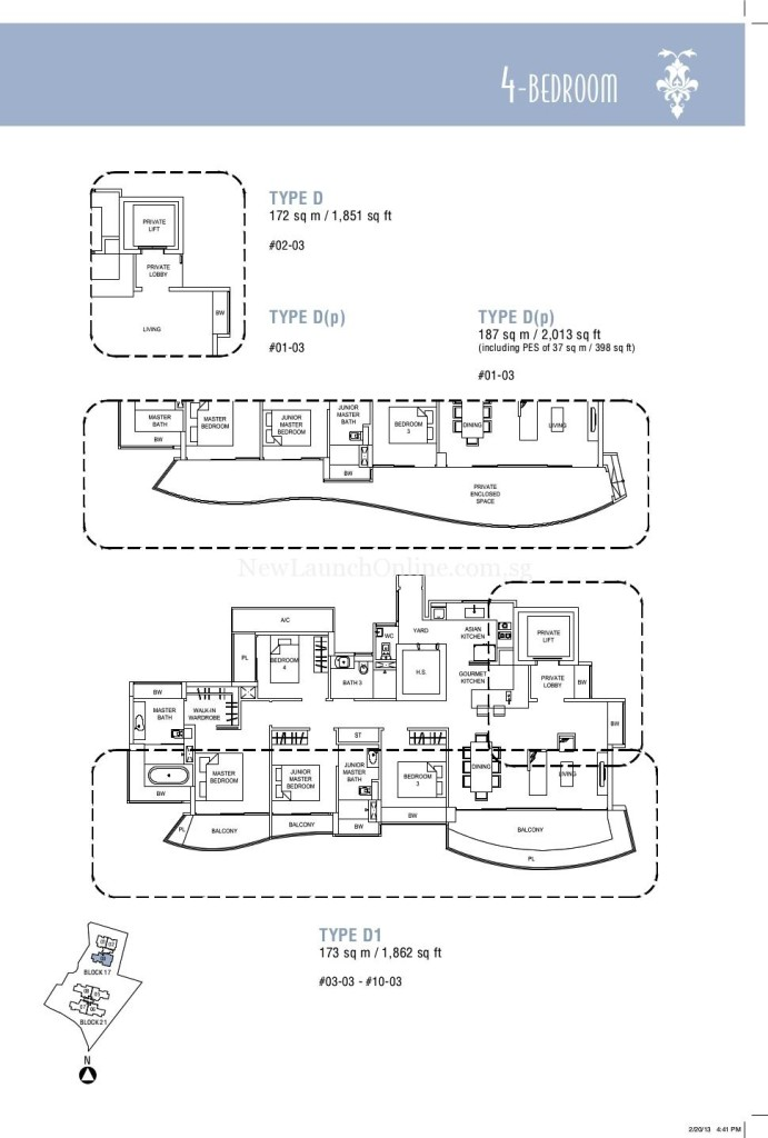 Hallmark Residences 4 bedroom Floor Plan