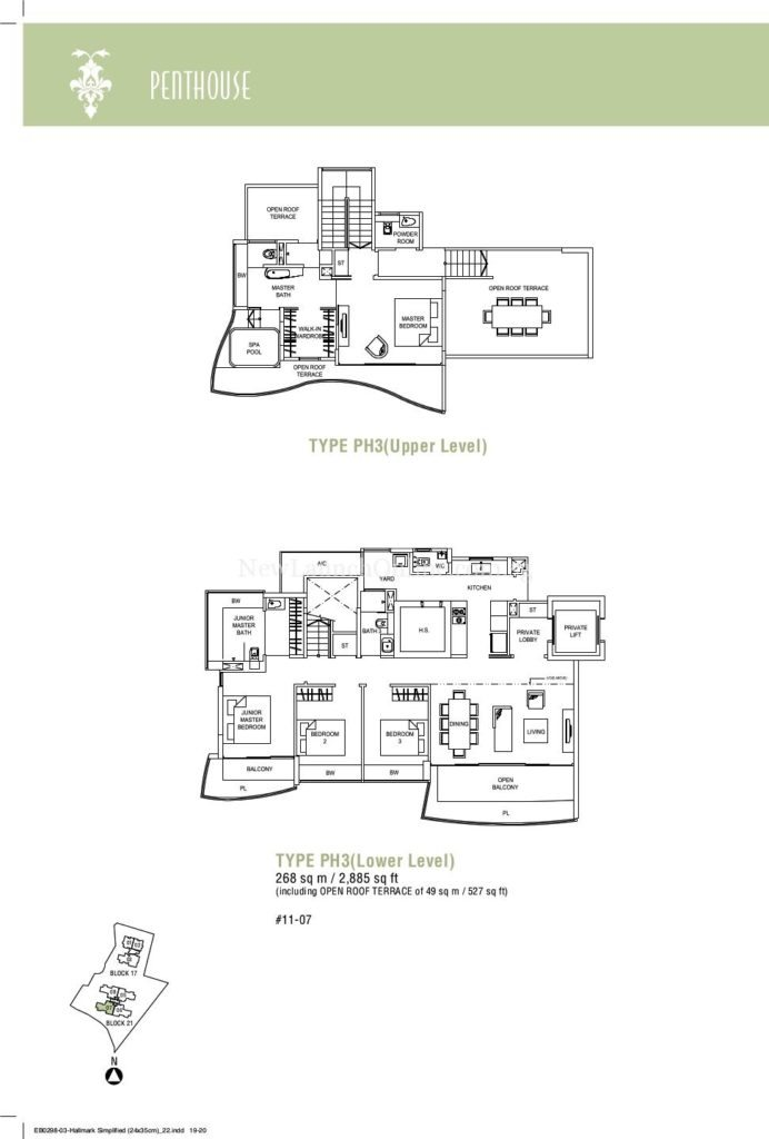 Hallmark Residences Penthouse Floor Plan