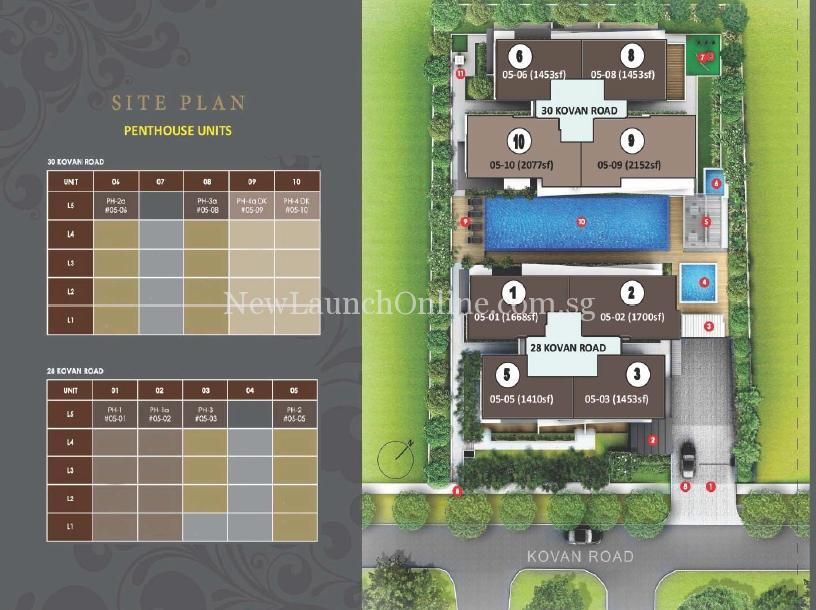 The Bently Residences Penthouse Site Plan