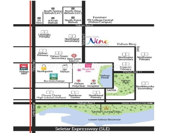 Junction Nine Residences Location Map