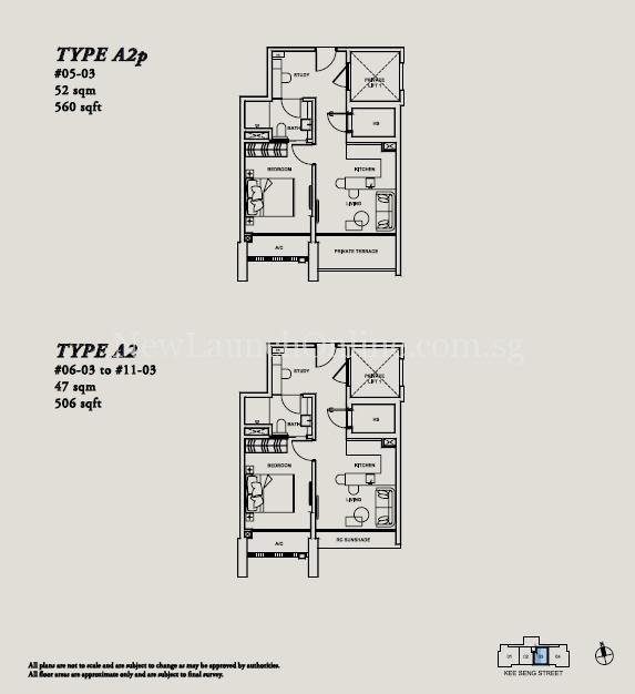 Onze @ Tanjong Pagar Floor Plan 1+Study Type A1