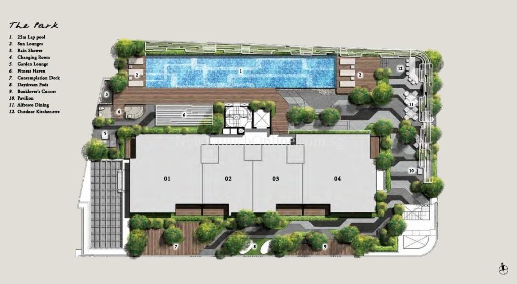 Onze @ Tanjong Pagar Site Plan (The Park)