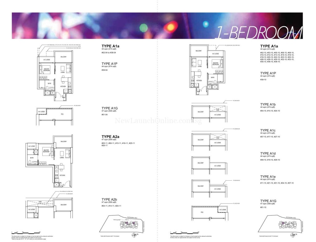 Alex Residences Floor Plan 1 Bedroom