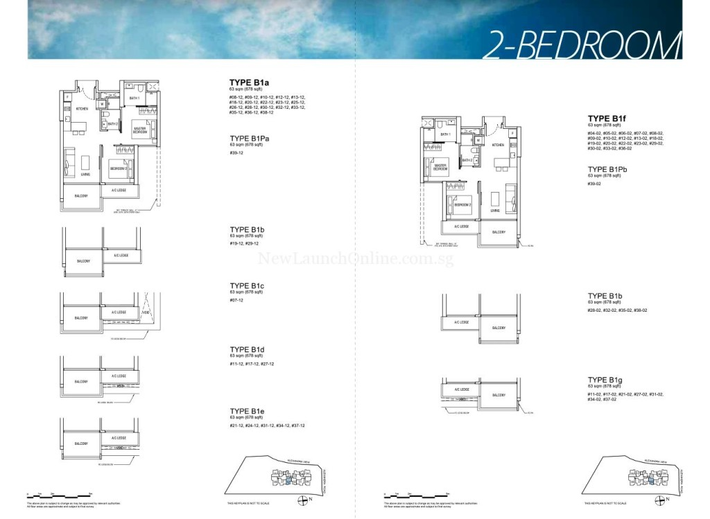 Alex Residences Floor Plan 2 Bedroom