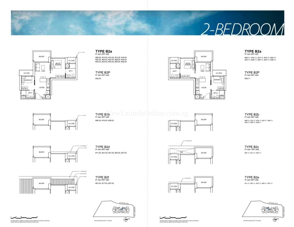 Alex Residences Floor Plan 2 Bedroom (2)