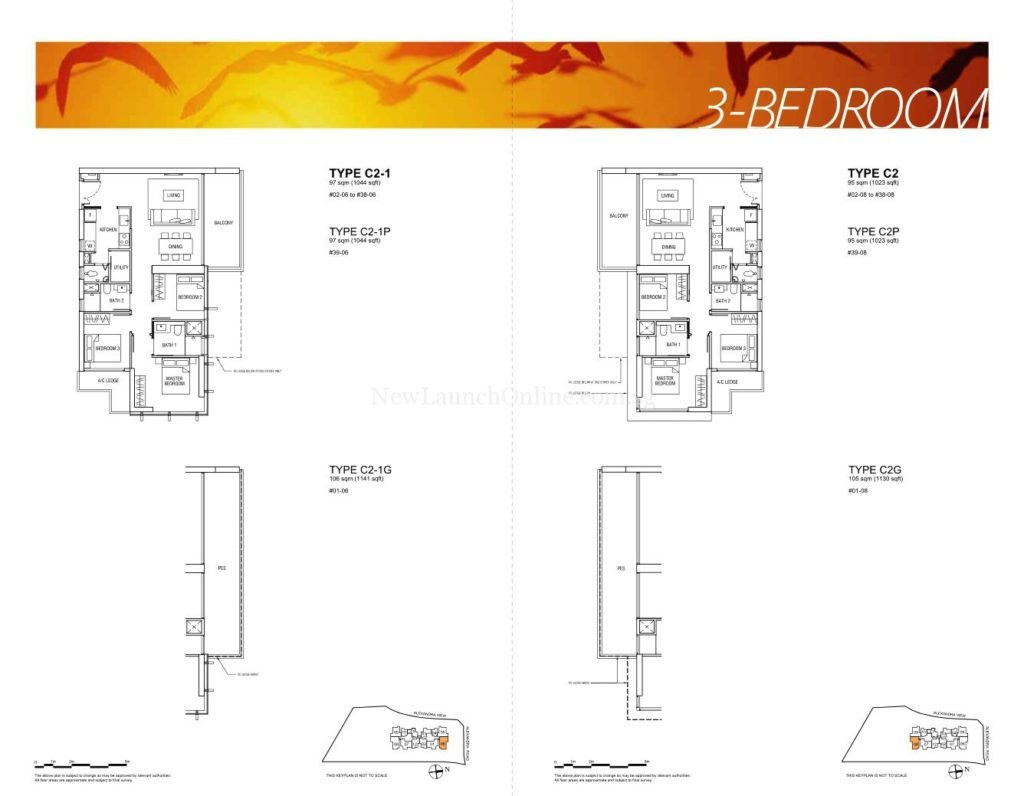 Alex Residences Floor Plan 3 Bedroom (2)