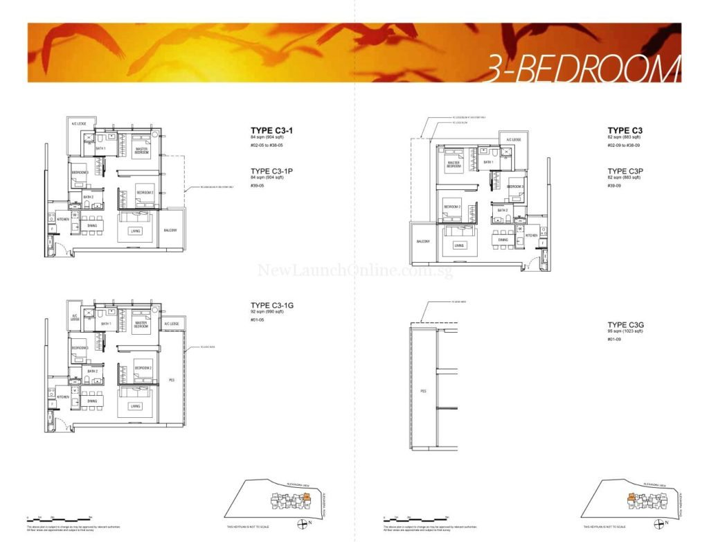 Alex Residences Floor Plan 3 Bedroom (3)