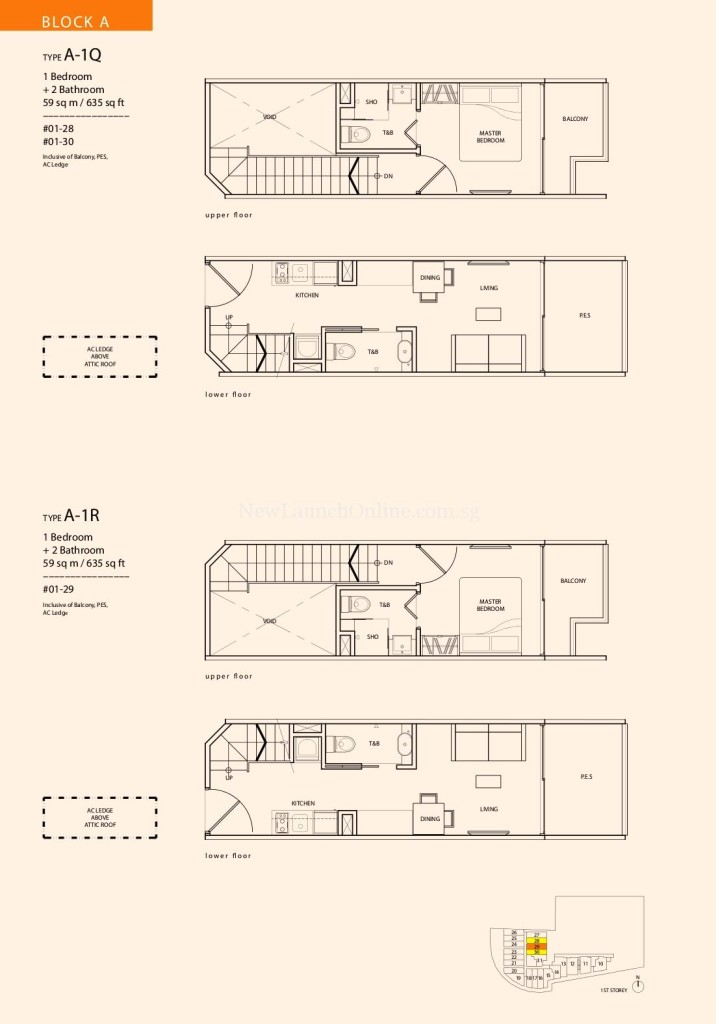 1 Suites Geylang Floor Plan
