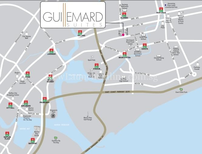 Guillemard Suites location map
