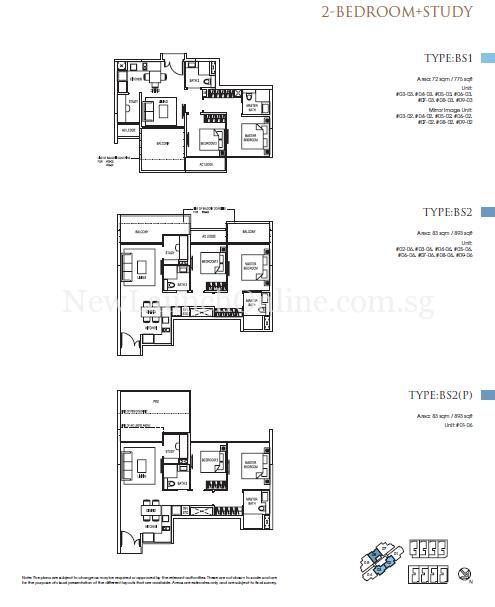 Goodwood Grand Floor Plan 2+study Bedroom