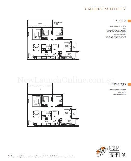 Goodwood Grand Floor Plan 3+utility Bedroom