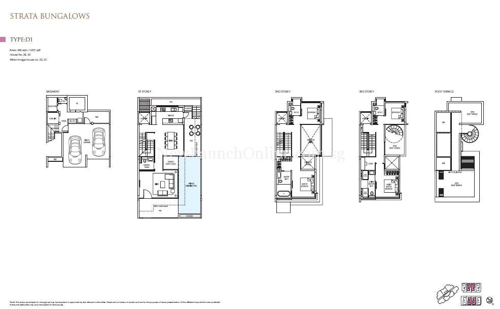 Goodwood Grand Floor Plan Strata Bungalow D1