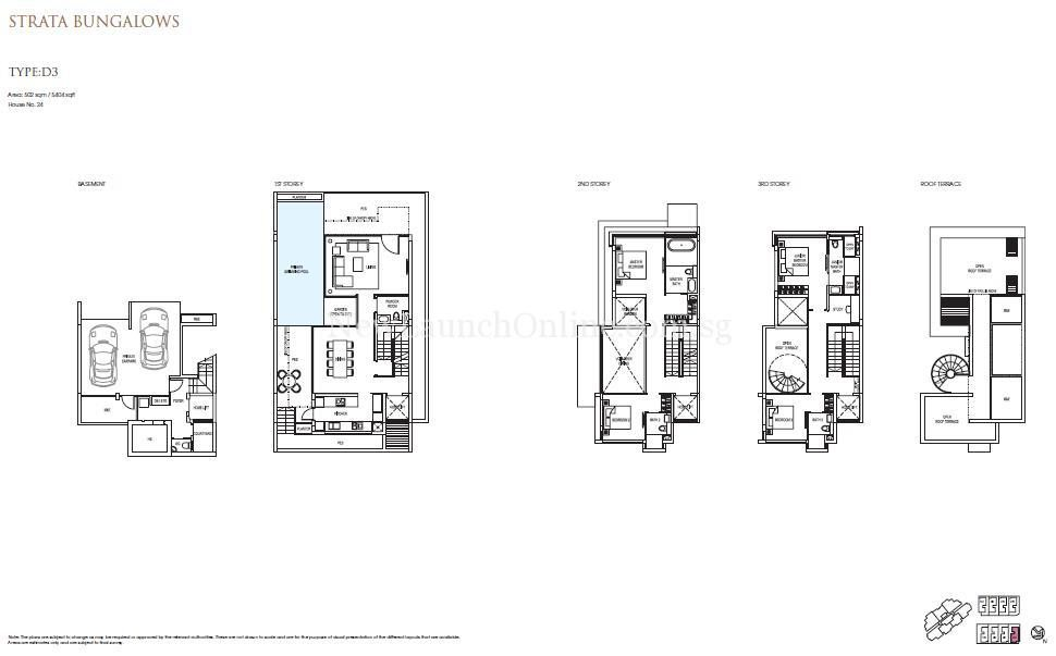 Goodwood Grand Floor Plan Strata Bungalow D3