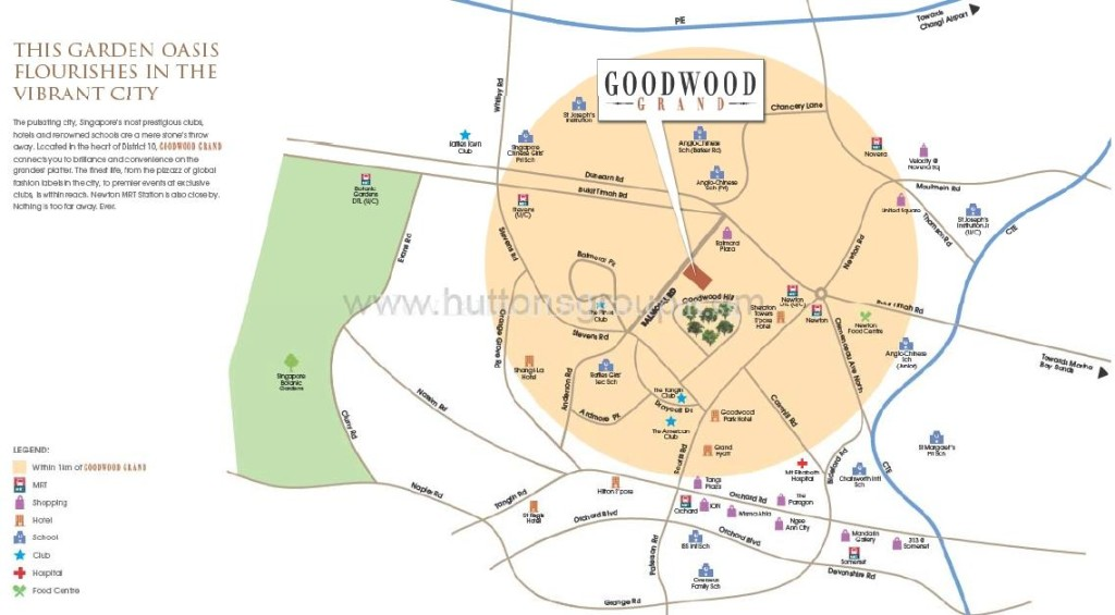 Goodwood Grand Location Map