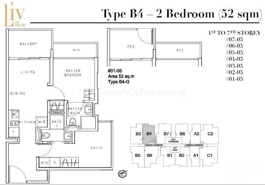 Liv on Wilkie 2 Bedroom Floor Plan Type B4
