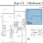 Liv on Wilkie 3 Bedroom Floor Plan Type C2