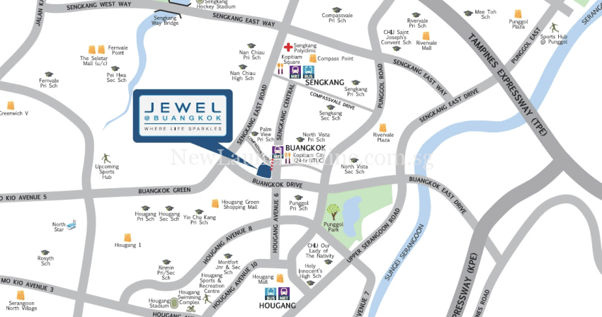 Jewel @ Buangkok Location Map
