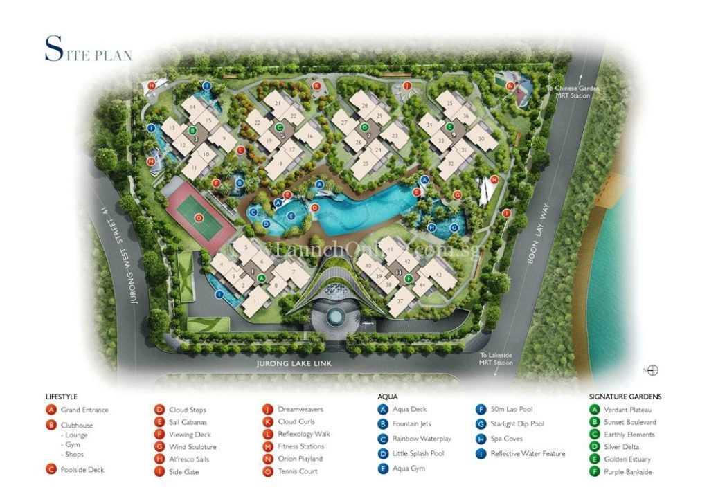 Lakeville @ Lakeside Singapore Site Plan