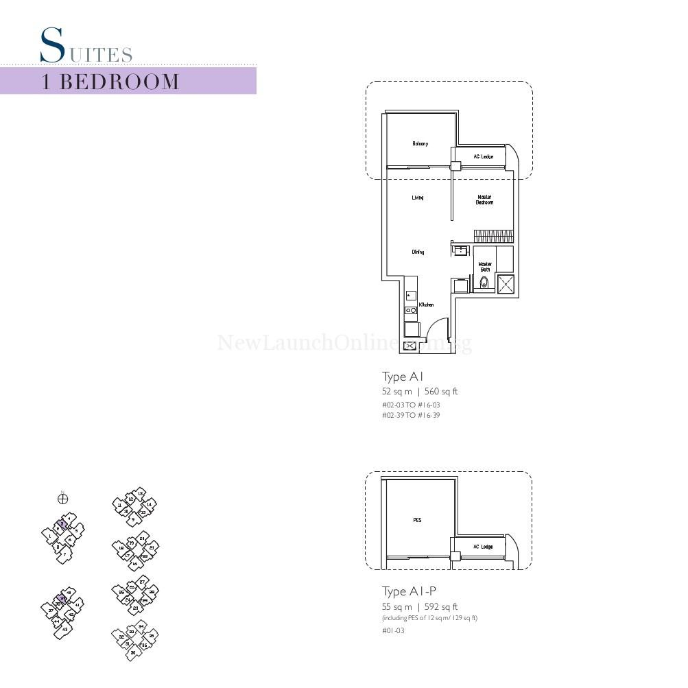 Lakeville 1 Bedroom Suites Floor Plan