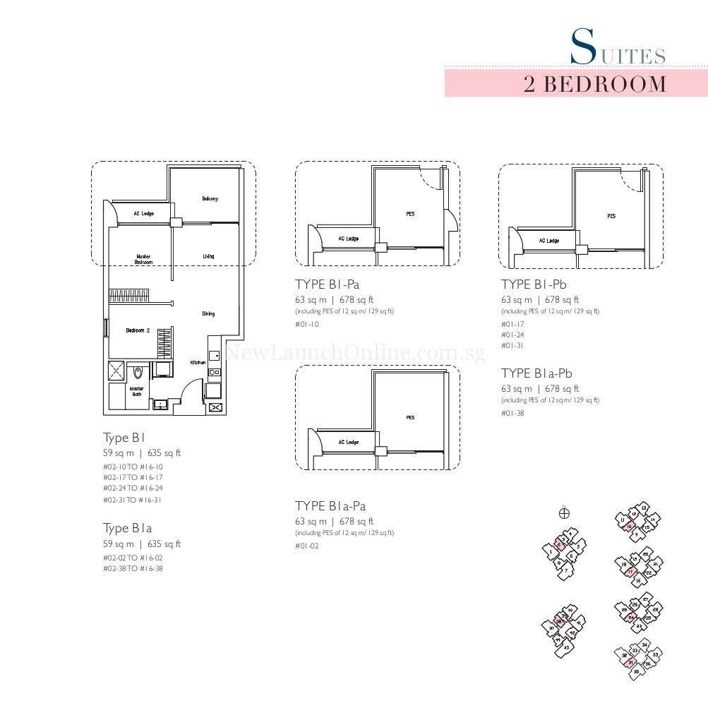 Lakeville 2 Bedroom Type B1 Suites Floor Plan