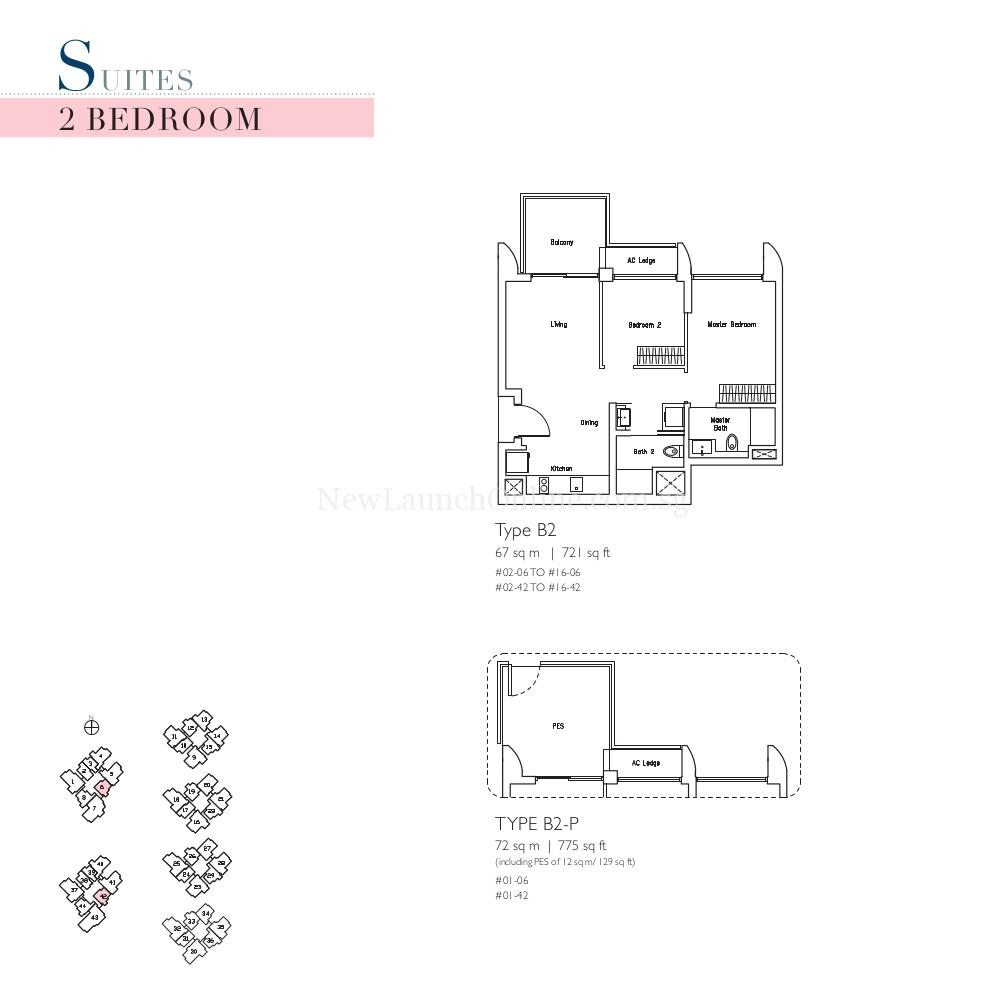 Lakeville 2 Bedroom Type B2 Suites Floor Plan